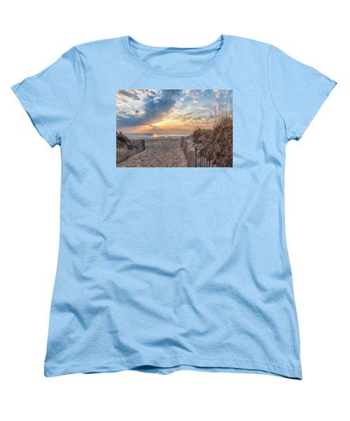 Morning Breaks Women's T-Shirt (Standard Cut) by David Cote