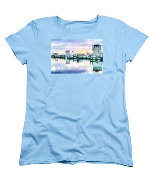 Women's T-Shirt (Standard Cut) featuring the photograph Morning Calm by Maddalena McDonald