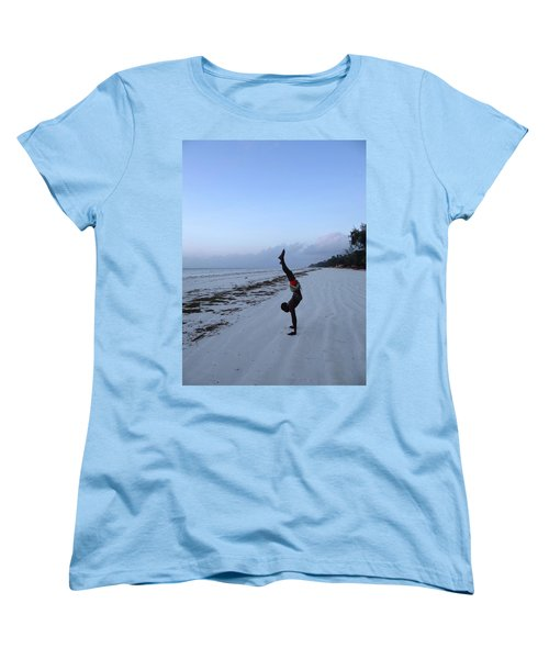 Morning Exercise On The Beach Women's T-Shirt (Standard Fit)