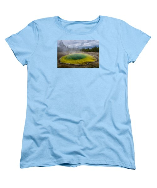 Women's T-Shirt (Standard Cut) featuring the photograph Morning Glory Pool by Gary Lengyel