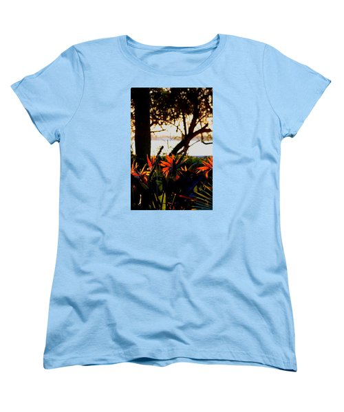 Morning In Florida Women's T-Shirt (Standard Cut) by Diane Merkle