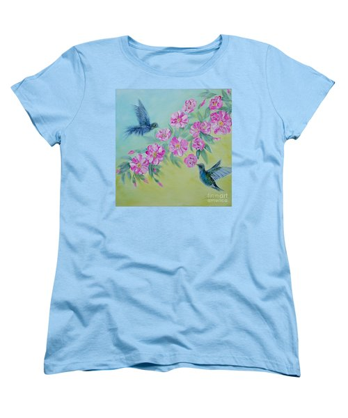 Morning In My Garden. Special Collection For Your Home Women's T-Shirt (Standard Cut) by Oksana Semenchenko