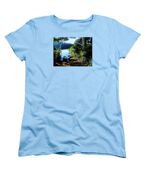 Morning Kayak Solitude Women's T-Shirt (Standard Cut) by Joy Nichols