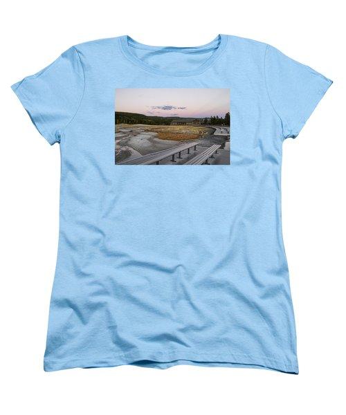 Morning Light At Old Faithful Women's T-Shirt (Standard Cut) by Shirley Mitchell