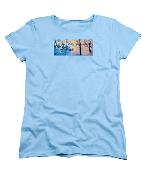 Women's T-Shirt (Standard Cut) featuring the painting Morning Light by Carolyn Rosenberger