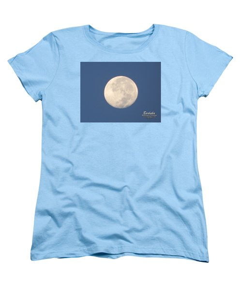 Women's T-Shirt (Standard Cut) featuring the photograph Morning Moon by Barbara Tristan