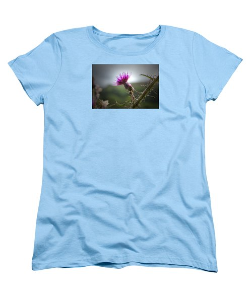 Morning Purple Thistle. Women's T-Shirt (Standard Cut) by Terence Davis