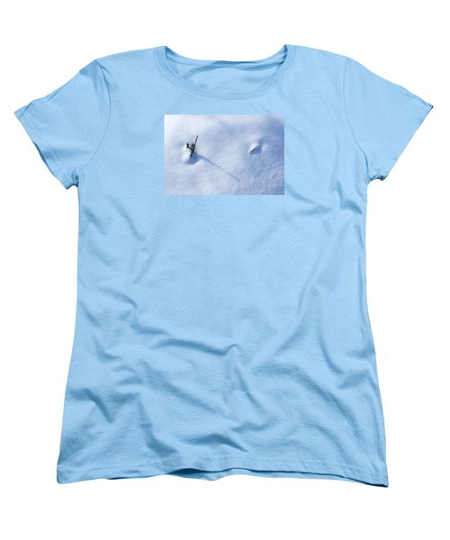 Morning Shadows On The Snow Women's T-Shirt (Standard Cut) by Monte Stevens