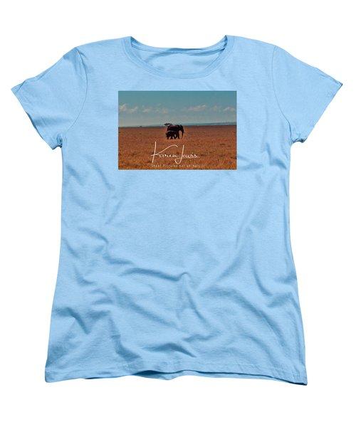 Women's T-Shirt (Standard Cut) featuring the photograph Morning Walk by Karen Lewis