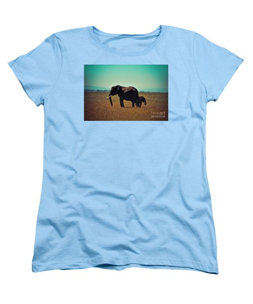 Women's T-Shirt (Standard Cut) featuring the photograph Mother And Child by Karen Lewis
