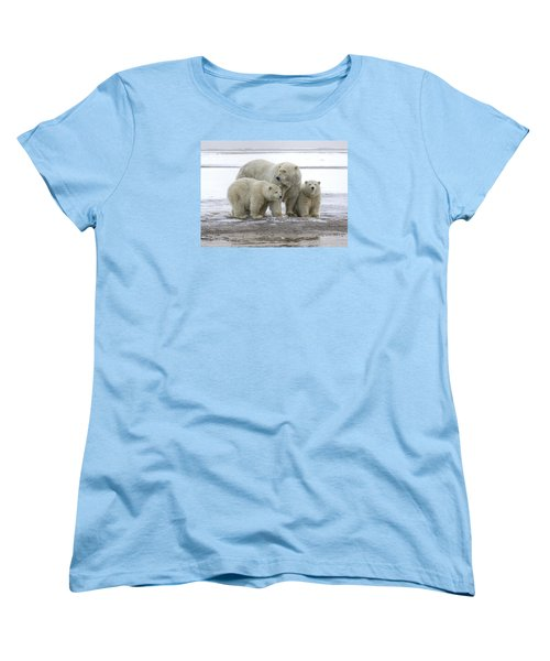 Mother And Cubs In The Arctic Women's T-Shirt (Standard Cut)