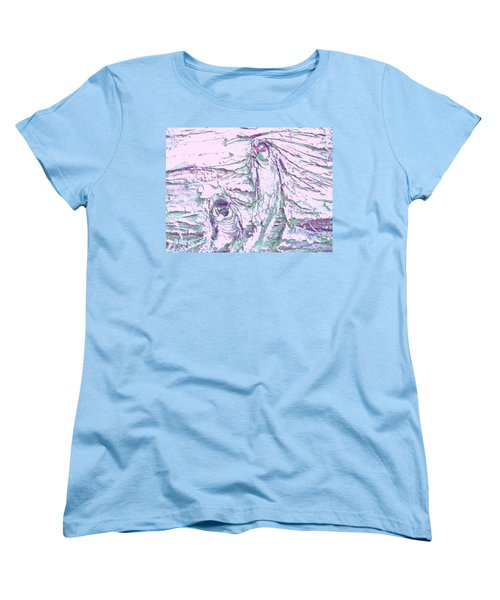 Mother And Daughter Against The Wind Women's T-Shirt (Standard Cut) by Karl Reid