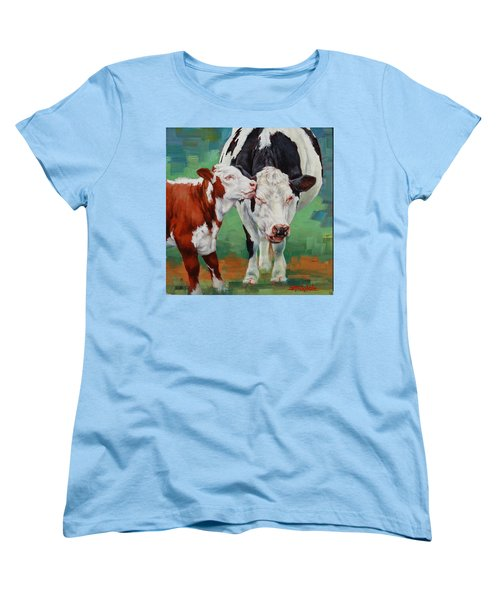 Women's T-Shirt (Standard Cut) featuring the painting Mother And Son by Margaret Stockdale