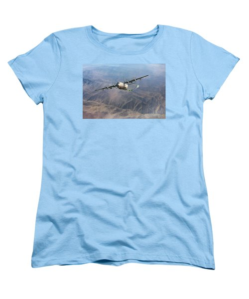 Women's T-Shirt (Standard Cut) featuring the digital art Mother Do You Think They Will Drop The Bomb by Peter Chilelli