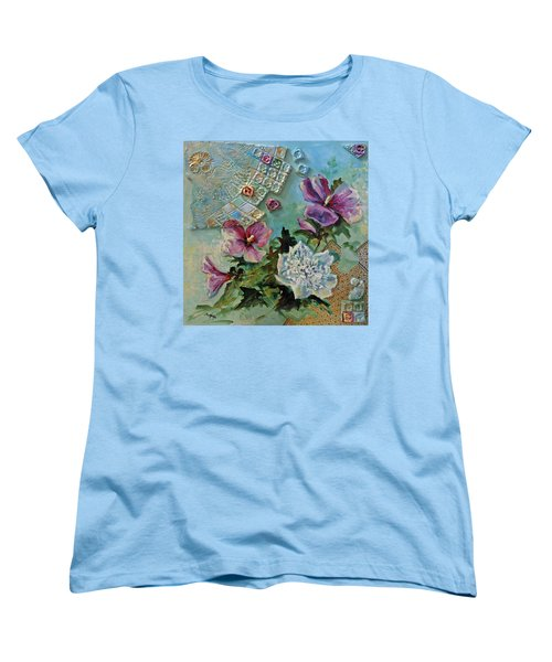 Women's T-Shirt (Standard Cut) featuring the painting Mothers Althea by Suzanne McKee