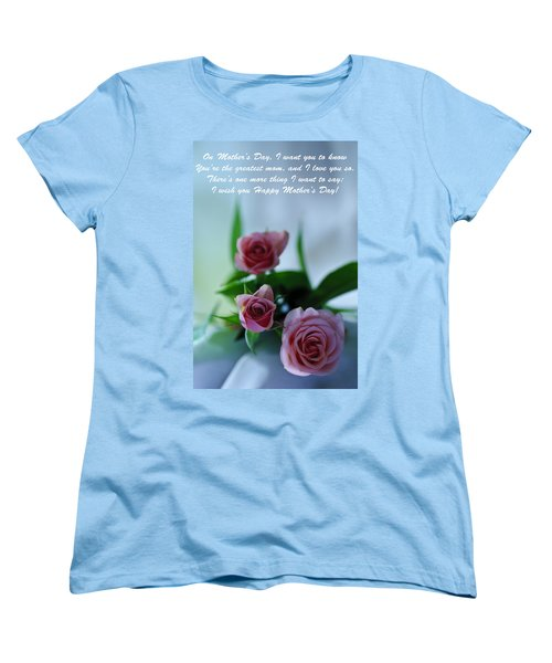 Women's T-Shirt (Standard Cut) featuring the photograph Mother's Day Card 1 by Michael Cummings
