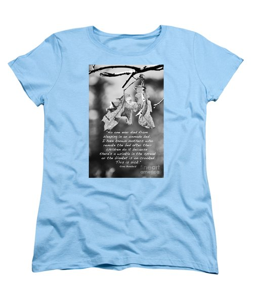 Women's T-Shirt (Standard Cut) featuring the photograph Mother's Day Saying by Debby Pueschel