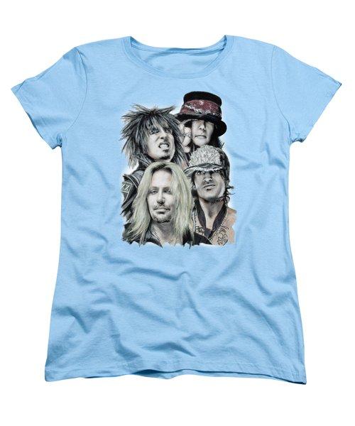 Motley Crue Women's T-Shirt (Standard Cut) by Melanie D