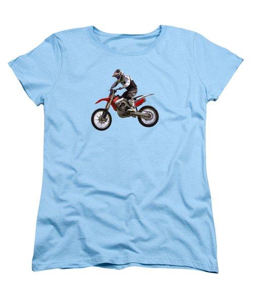 Motocross Women's T-Shirt (Standard Cut) by Scott Carruthers