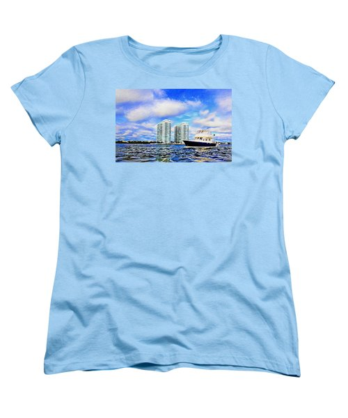 Motoring Past The Marina Grande Women's T-Shirt (Standard Cut) by Alice Gipson