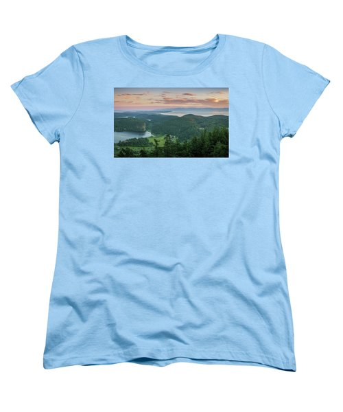 Mount Erie Viewpoint Women's T-Shirt (Standard Cut) by Ken Stanback