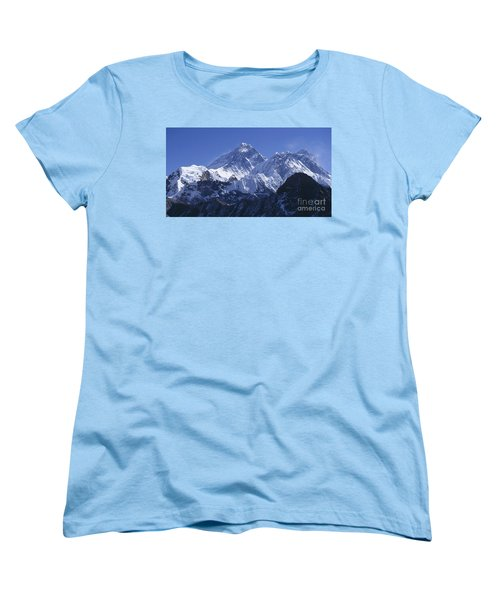 Women's T-Shirt (Standard Cut) featuring the photograph Mount Everest Nepal by Rudi Prott