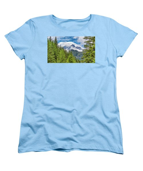 Women's T-Shirt (Standard Cut) featuring the photograph Mount Rainier View by Stephen Stookey