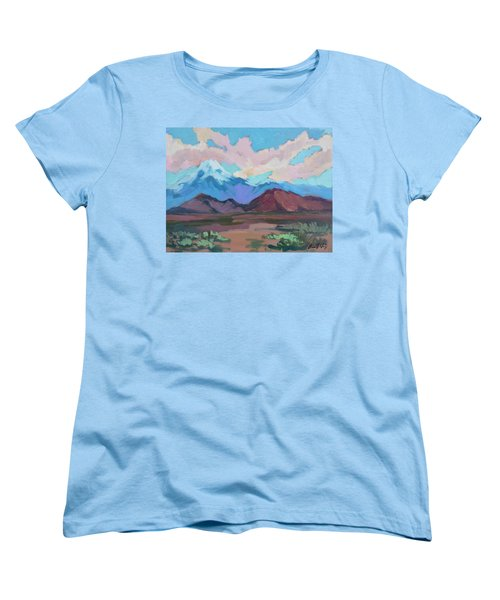 Women's T-Shirt (Standard Cut) featuring the painting Mount San Gorgonio by Diane McClary