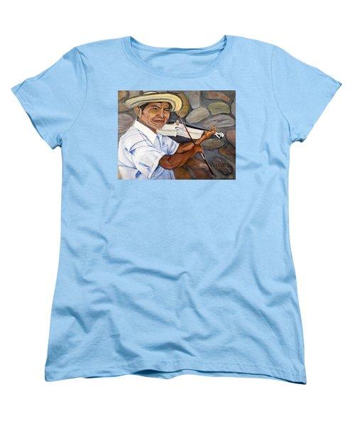 Mountain Fiddler Women's T-Shirt (Standard Cut) by Marilyn McNish
