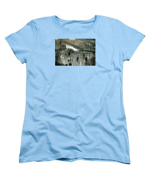 Mountain Forest Women's T-Shirt (Standard Cut) by Vittorio Chiampan
