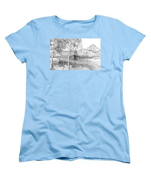 Mountain Pastoral Women's T-Shirt (Standard Cut) by Lawrence Tripoli