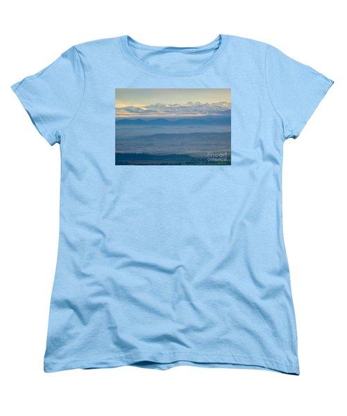 Mountain Scenery 11 Women's T-Shirt (Standard Cut) by Jean Bernard Roussilhe