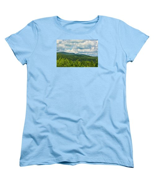 Mountain Vista In Summer Women's T-Shirt (Standard Cut) by Nancy De Flon