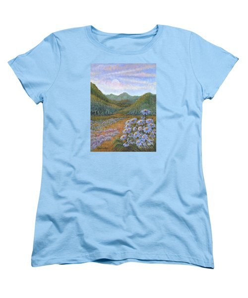 Mountains And Asters Women's T-Shirt (Standard Cut)
