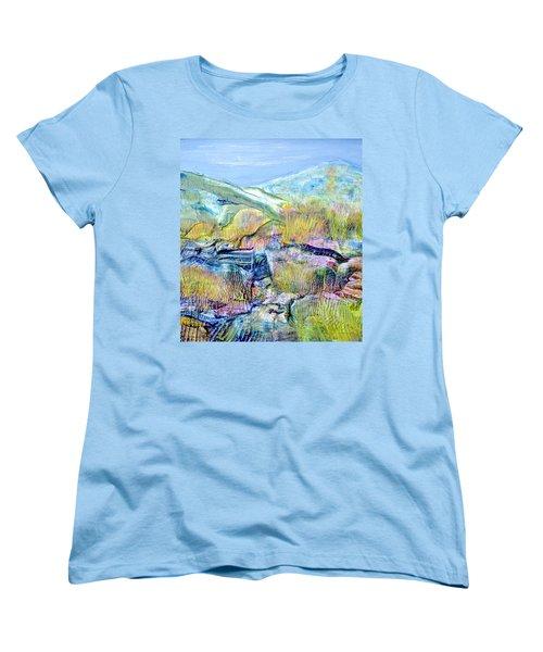 Mountains And Marsh Women's T-Shirt (Standard Cut) by Regina Valluzzi