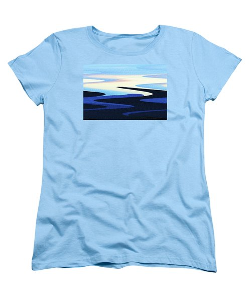 Mountains And Sky Abstract Women's T-Shirt (Standard Cut) by Tom Janca