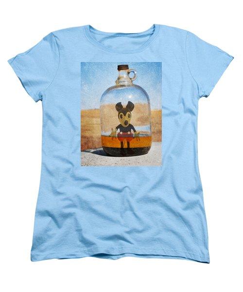 Mouse In A Bottle  Women's T-Shirt (Standard Cut) by Jerry Cordeiro