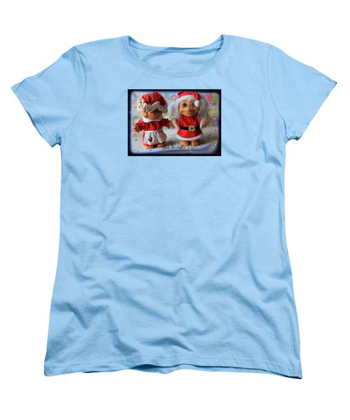 Mr And Mrs Santa Troll Women's T-Shirt (Standard Cut) by Toni Hopper