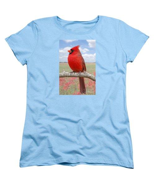 Mr. Cheerful Women's T-Shirt (Standard Cut) by Bonnie Barry