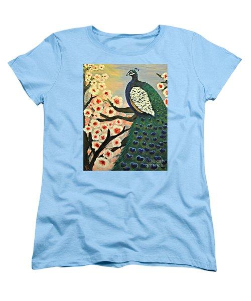Mr. Peacock Cherry Blossom Women's T-Shirt (Standard Cut)