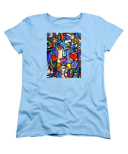 Mr Roboto Women's T-Shirt (Standard Cut) by Tom Fedro - Fidostudio