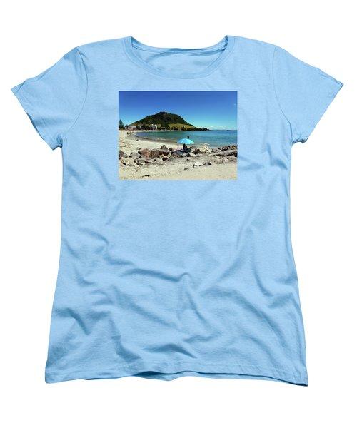 Mt Maunganui Beach 5 - Tauranga New Zealand Women's T-Shirt (Standard Cut) by Selena Boron