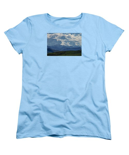 Women's T-Shirt (Standard Cut) featuring the photograph Denali by Gary Lengyel