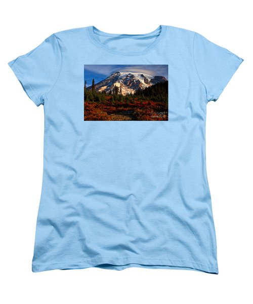 Mt. Rainier Paradise Morning Women's T-Shirt (Standard Cut) by Adam Jewell