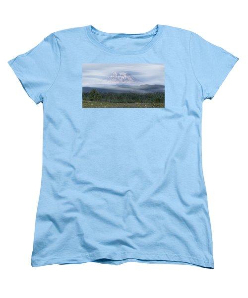 Mt. Rainier Women's T-Shirt (Standard Cut) by Patti Deters