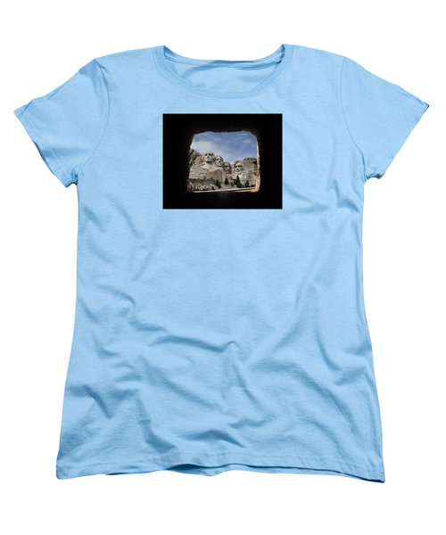 Women's T-Shirt (Standard Cut) featuring the photograph Mt Rushmore Tunnel by David Lawson