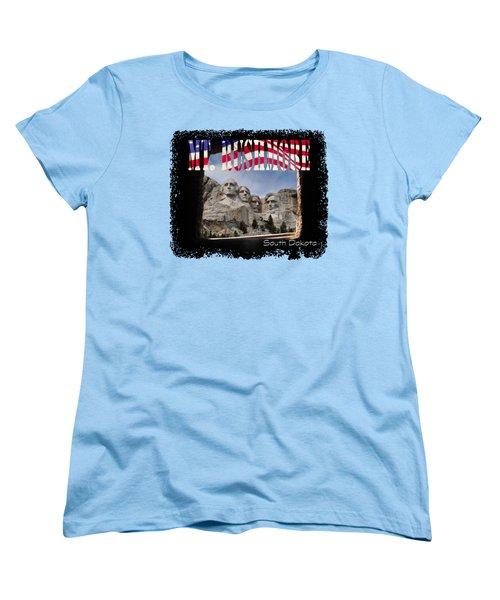 Mt. Rushmore -tunnel Vision Women's T-Shirt (Standard Cut) by David Lawson
