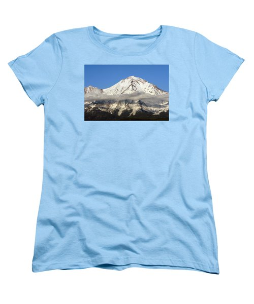 Women's T-Shirt (Standard Cut) featuring the photograph Mt. Shasta Summit by Holly Ethan