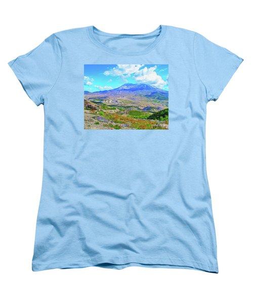 Mt. St. Helens Wildflowers Women's T-Shirt (Standard Cut) by Ansel Price