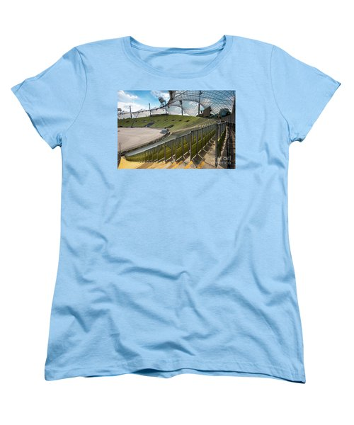 Munich - Olympic Stadium Women's T-Shirt (Standard Cut) by Juergen Klust